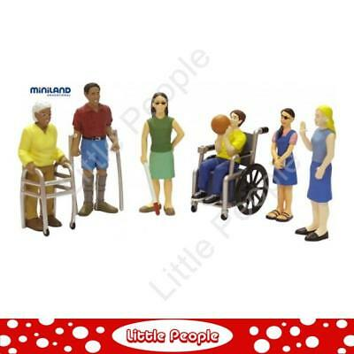 Miniland Figure Dolls - Friends with disabilities 6 pieces NEW
