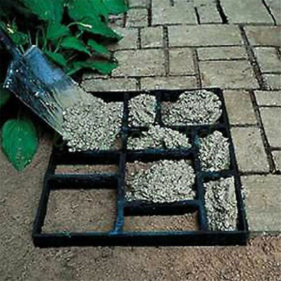 DIY Grid Driveway Paving Brick Patio Concrete Slabs Path Garden Walk Maker Mould
