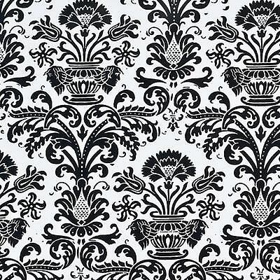 White BG Black Rennaissance Giftwrap Counter Roll, Wrapping paper, 500mm x 50m