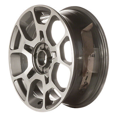 61663 Refinished Fiat 500 2012-2015 16 inch Wheel, Rim OEM Machined and Charcoal