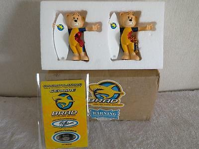 Bad taste bears figurines, collector's edition set of two Brad 160/500