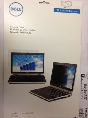 """Dell 12.5"""" Widescreen Privacy Screen Filter for LCD Notebook Laptop N3T6D- Seale"""