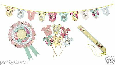 Luxury Talking Tables Vintage Baby Shower Party Mum To Be Banner Sash Decoration