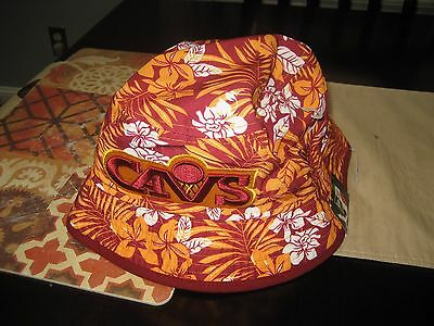 Cleveland Cavaliers NEW ERA HARDWOOD CLASSICS FLORAL Bucket Hat LARGE L NEW 156ff2f02876