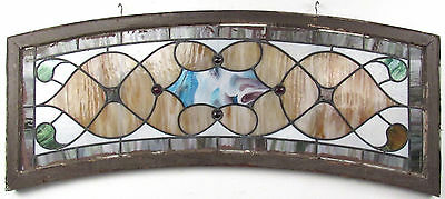 Vintage Hanging Stained Glass Window (9395)NJ