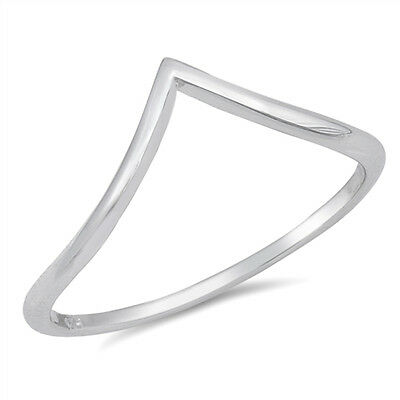925 Sterling Silver Crown Bubble Wishbone Stacking Stacker Ring J L N P R T