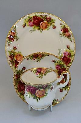 Royal Albert Old Country Roses Coffee Trio. Excellent Condition