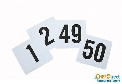 "4"" X 4""  Plastics Table Numbers 1-50 - Free Shipping!!!"