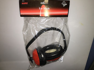 HAWK ER3 Adjustable Ear Muff Hearing Protection Lightweight Red Safety Shooting