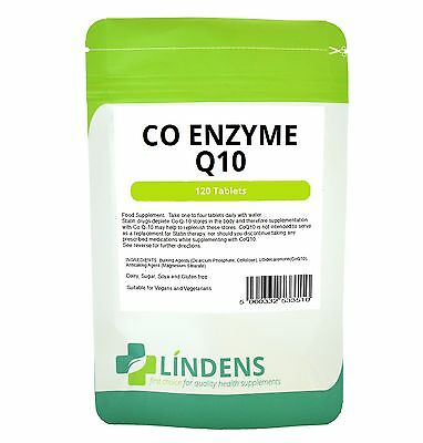 CoEnzyme Q10 30mg Tablets 120 Pack Lindens Health Supplements Energy Skin