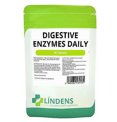 Digestive Enzymes Daily Tablets (90 pack) Lindens Health Supplements Amino Acids