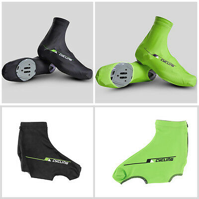 Bicycle Bike Windproof Shoe Covers Cycling Zippered Overshoes Sportwear AU