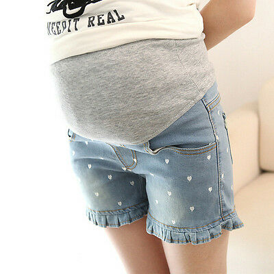 Maternity Shorts M-XXL Maternity Jeans Shorts for Pregnant Women Maternal Belly