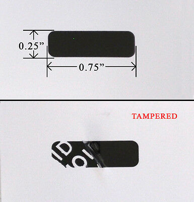 """Security Label Seal Sticker Black Tamper Evident Void Ps3 Xbox .75"""" X .25"""" 1,000"""