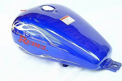 New 3.4 Gallons Fuel Gas Tank For Honda CA CMX 250 CMX250 Rebel 1985-2016 BLUE