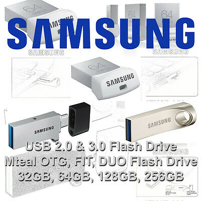 Samsung 32GB 64GB 128GB USB 2.0 3.0 BAR DUO OTG FIT Type-C Stick Flash KEY Drive