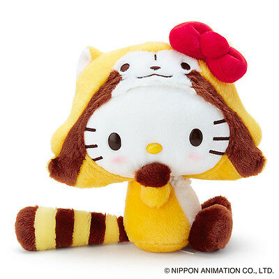 Rascal the Raccoon X Hello Kitty Plush Doll Kitty ❤ Sanrio Japan