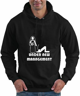 Gromo Stag Wedding Funny Married Hoodie Hooded Top UNDER NEW MANAGEMENT