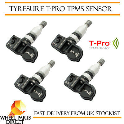 TPMS Sensors (4) TyreSure T-Pro Tyre Pressure Valve for BMW 5 Series [F10] 10-16