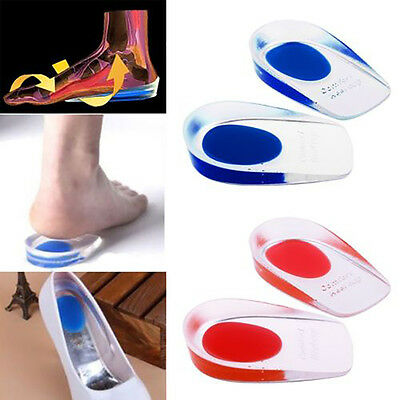 Gel Heel Support Pad Cup Silicone Cushion Orthotic Insole Plantar Fasciitis