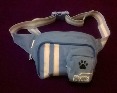 canvas dog  bum bag treat bag with glitter paw front pocket agility training