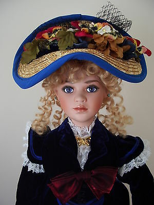 Jan McLean Porcelain Doll named Eliza Blue
