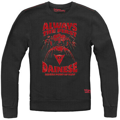 Dainese Always Motorcycle Casual Wear Crew Neck Sweater - Black