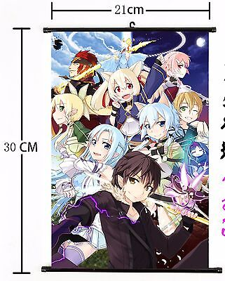Japan Anime Sword Art Online Scroll Wall  poster Home Decor cosplay 695