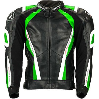 RST 2016 Pro Series CPX-C Leather Sports Motorcycle Motorbike Jacket - Green
