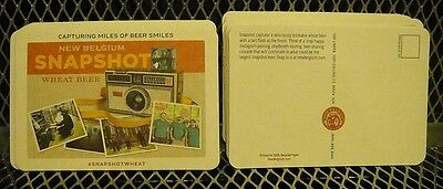 NEW BELGIUM BREWING Co ~ NEW LOT of 50 Snapshot Wheat Beer Coasters Post Cards B