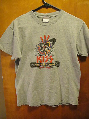 KISS Coffee House 2006 Myrtle Beach SC Concert T Shirt Gray Youth Large