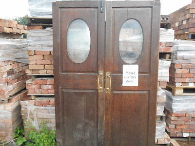 Pair of antique part glazed oak doors from Birmingham Cathedral 1715 not church