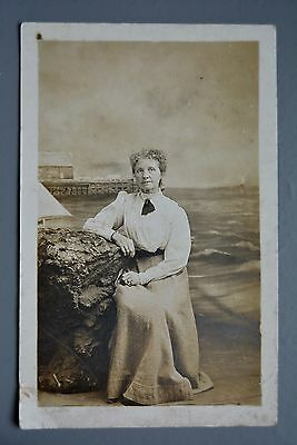 R&L Postcard: Unknown Older Lady Portrait, Great Yarmouth Photographer