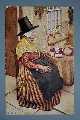 R&L Postcard: Wales Welsh Lady in Traditional Clothing, Photochrom