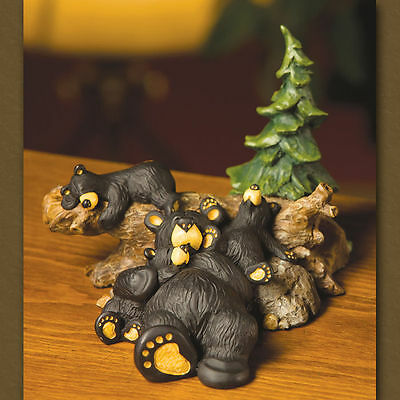New Big Sky Carvers Bearfoots Bear Figurine - Naptime Family  Bears & Cubs