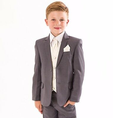 14 years Boys Smart Grey Waistcoat Wedding Pageboy Party Prom 0-3 months
