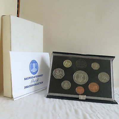 GUERNSEY 1988 8 COIN PROOF YEAR SET WITH CROWN - complete