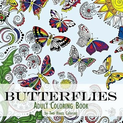 Adult Coloring Book Kids Beautiful Butterfly Art Design Relaxing Stress Painting