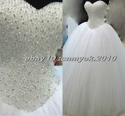 Charming Sweetheart Beading Ball Gown Floor-Length Lace-Up Wedding Dress