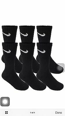Nike 3Pairs Performance Cotton Cushioned Crew Socks Size L/G Men's Size 8-12
