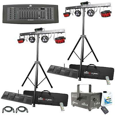 (2) Chauvet DJ GigBAR 2 Effect Light Systems + Fog Machine + DMX Controller Pack