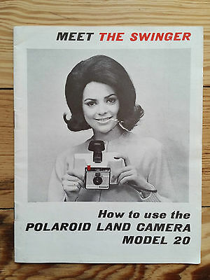 Meet the Swinger - Polaroid Land Camera Model 20, 1967 Instructions Photography