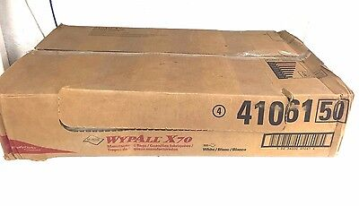 """Kimberly-Clark Wypall X70 41061 16.6"""" x 29.8"""" White Manufactured Disp Rags"""