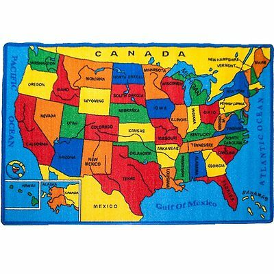 KIDS RUG USA Map Children Area Rug - Non Skid Gel Backing All size Kids Map Of The Usa on large map of usa, roadmap of the usa, map of usa states, physical map of usa, postcard of the usa, parts of the usa, rivers of the usa, full map of usa, climate of the usa, united states maps usa, travel the usa, mal of the usa, map of time zones in usa, driving road map usa, flag of the usa, blank map of usa, states of the usa, outline of the usa, map of east coast usa, atlas of the usa,