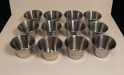 LOT 12  Vollrath  3 oz. Stainless Steel Condiment Sauce Cups  #46713