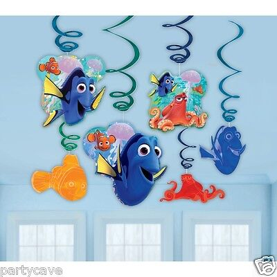 Disney Pixar Finding Dory Party Birthday Hanging Swirl Decoration Nemo Fish Sea
