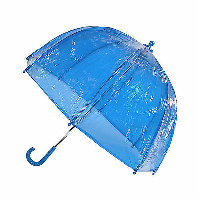 New Totes Kids' Vinyl Pinch-Proof Clear Bubble Umbrella