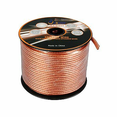 100Ft Speaker Cable 12Awg Wire Cl2 In Wall Bulk 12/2 Gauge 2 Conductor Audio New