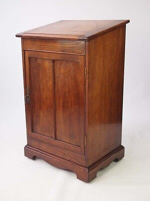 Antique Mahogany Clerks Desk - Mahogany Davenport Filing Cabinet Shop Cupboard
