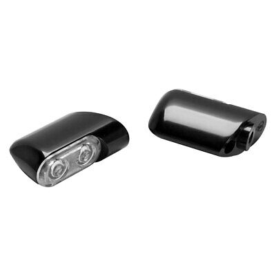 Arlen Ness - 12-761 Black/Amber Front Direct Bolt on Turn Signals w/ Power LED